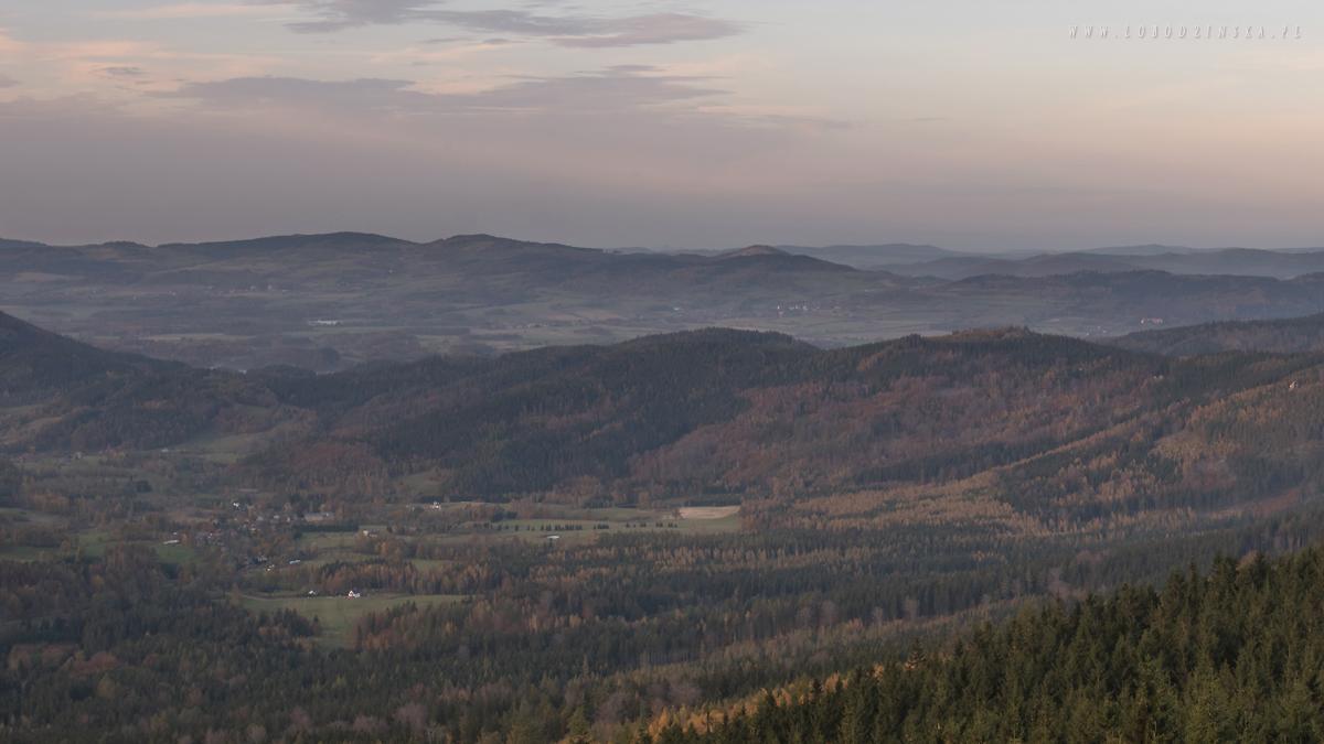 Rudawy Janowickie - widok ze Skalnika, jesień 2017
