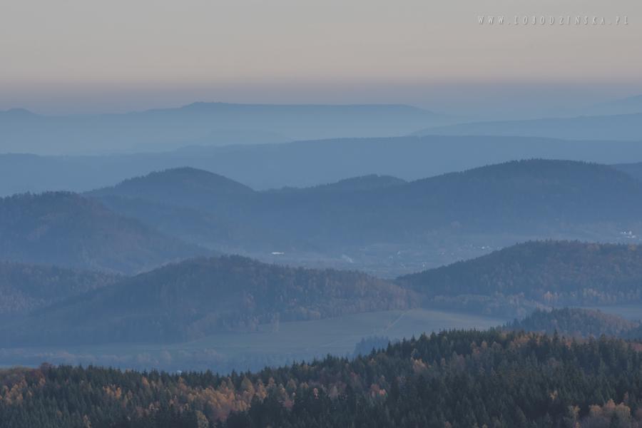 Rudawy Janowickie - niebieski szlak ze Skalnika, jesień 2017